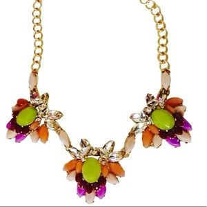 J Crew Floral Clusters Statement Necklace-NWT